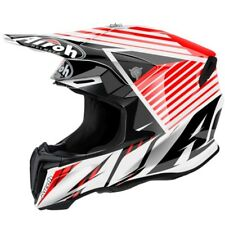 AIROH TWIST STRANGER RED MOTOCROSS HELMET ACU GOLD STAMP FITTED