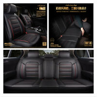 Full Set Auto Chair Cushion PU Leather 5Seat Car Seat Cover Pad Breathable 3D