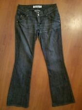 HUDSON Jeans size 28 x 30.5 Black Gray Extra Zip Pockets Stretch