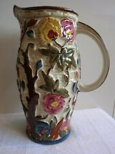 More details for h j wood england large / tall hand painted jug no. 579  indian tree vgc