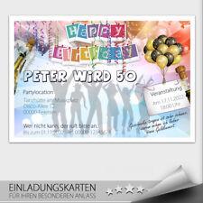 Einladungskarten Geburtstag ● Party Feier Ticket Eintrittskarte ● 10 20 30 40 50