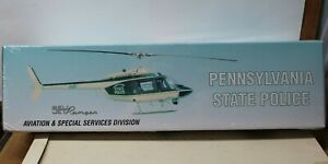 PENNSYLVANIA STATE POLICE HELICOPTER - 1/43- BELL JET RANGER- LTD- White Rose