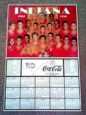 INDIANA UNIVERSITY HOOSIERS 1986-87 NCAA CHAMP BB POSTER/SCHEDULE - 11X17 - MINT