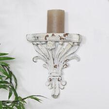 Dekorativ Antik Weiß Wandleuchter Regal Kragstein Display French Shabby Chic
