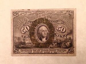 ~ FR 1317 50 CENTS SECOND ISSUE FRACTIONAL CURRENCY NOTE