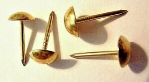 Upholstery Tack Stud Nail x 30 Leather Craft Fabric Cover Brassed 6.5mm Heads