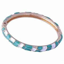 D6458 Excellent Womens Yellow Gold Filled Enamel Band Bangle