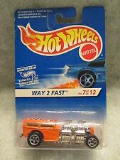 Hot Wheels  Way 2 Fast  Orange  NOC 1:64 scale  (9) 16667