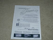 Marantz Ad, 1963, Model 7 Preamp, 8b Amplifier, Model 9