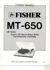 FISHER ORIGINAL Service Manual MT-650 FREE USA SHIPPING