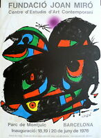 MIRO Joan Affiche Originale Lithographie 1976 Abstrait