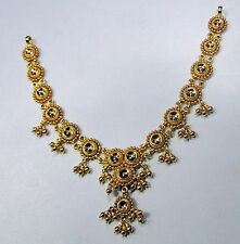 traditional design 22k gold necklace choker rajasthan india handmade jewelry