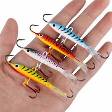 Goture Ice Fishing Lures Jigs Metal Hard Bait Hooks for Winter Fishing 4pcs/lot