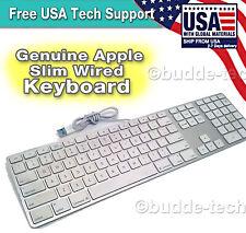 Genuine Apple Wired Aluminum USB Keyboard - A1243 MB110LL/A Slim iMac Mac Mini