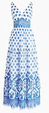 J.CREW V-neck maxi dress in block print