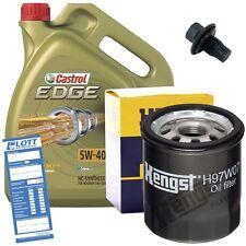 Ölwechsel Set 5L 5W40 Öl Motoröl Castrol + HENGST Ölfilter + Ablassschraube