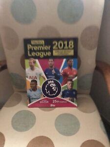 Topps Premier League 2018 Football Sticker Album  VGC Missing 2 stickers