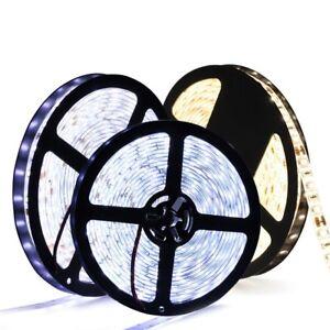 5m 5050 5630 3528 SMD 12V Ruban LED Bande Etanche IP65 RGB Blanc Chaud Froid
