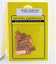 Model Shipways Fittings MS 0979 Large Dimple Copper Plates 7x18mm 50 Per PK