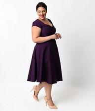 Womens Short Sleeve Evening Party Prom Cocktail Formal Swing Dress Plus Size .