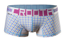 "CROOTA Mens Underwear Boxer Briefs, Low-Rise Hipster, Blue, M (Waist 29-31"")"