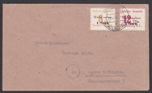Germany. Local Zone.  Spremberg. Cover to Lugau. Sent 12/4/1946