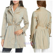 COLE HAAN Packable Jacket Trench Rain Coat + Travel Bag Pouch $395 NWT L 12-14