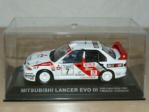 Coche MITSUBISHI LANCER EVO III T. Makinen 1000 Lakes Rally 1996 ixo car 1/43