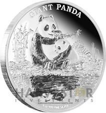 2016 SILVER ENDANGERED SPECIES GIANT PANDA - 1 0Z. SILVER PROOF - FINAL COIN