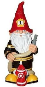 """Fireman Fire Fighter Thematic Garden Yard Gnome Office NEW 11"""" - Great gift!"""