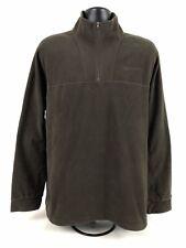Men's Beretta Fleece 1/4 Zip Jacket Coat Brown size XXL Light Weight