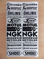 Sponsoren Aufkleber Set - 2x14 Stück - Motorrad - Auto - 16cm Breit - Sticker