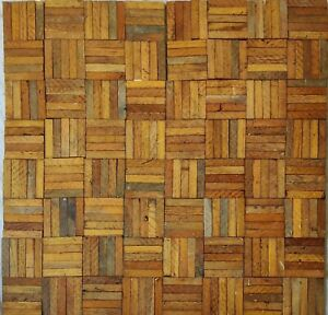 50 antique reclaimed parquet flooring fingers / blocks. Good condition.