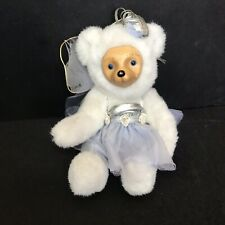 Vintage Flower Fairies Winter Bear Tutu Wings Robert Raikes Applause Plush Wood