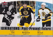 07-08 Fleer Ultra Bobby Orr Patrice Bergeron Phil Kessel Generations Bruins 2007