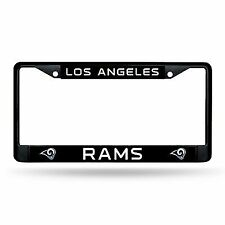 Los Angeles Rams Authentic Metal Black License Plate Frame Auto Truck Car