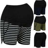 Maternity Summer Workout Loose Fit Stretchy High Waist Adjustable Short Pants