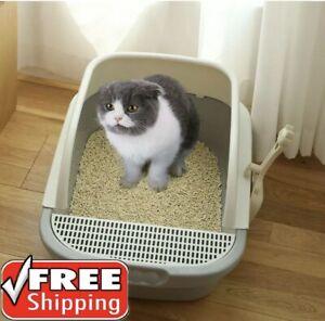 Cat Litter Box Automatic Self Cleaning Anti-Splashing Semi-Closed cats Toilet