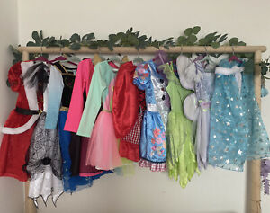 Girls Kids Dress Up Dresses And Accessories X10 Bundle H&M Disney 3-4-5 Years