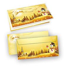 TATMOTIVE Weihnachtskarten Schneemann (10 Sets)