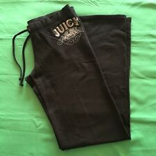 Juicy Couture Angel Women Pants S M Black Cotton Stretch Tall Casual USA 1M83