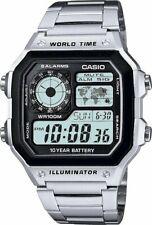 Casio Men's Stainless Steel World Time Illuminator Watch Quartz Men Watches Gift