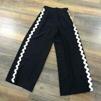 NEW £46 River Island Size 8 Black White Wide Leg Matador Trousers Party Occasion