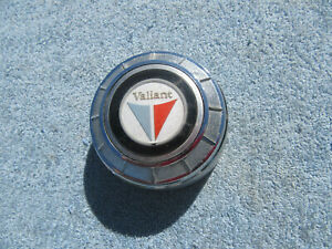 1960 1961 Plymouth Valiant Horn Button Center Cap Emblem Original