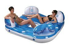 Badeinsel Wave Schwimminsel Schwimmliege Luftmatratze aufblasbare Pool Lounge