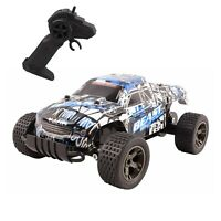 RC Truck 2.4 GHz High Speed Rechargeable Remote Control 1:18 Scale Car Off-Road