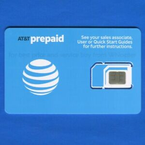 New AT&T Prepaid &Postpaid 4G & 5G Triple Sim Card 3 IN 1 - mini, micro, or nano