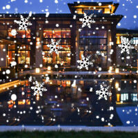 Christmas Snowflake LED Laser Projector Light Snow Outdoor Garden Landscape Lamp