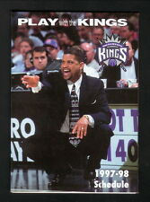 Eddie Jordan--1997-98 Sacramento Kings Schedule--U.S. Bank