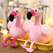 Lovely Flamingo Plush Toy Keychain Ring Pendant Soft Toy Key Ring Backpack Decor